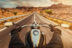 Free Driver Riding Motorcycle On Asphalt Road Stock Photo - 84102070