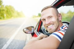 Driver on the road. Royalty Free Stock Photo