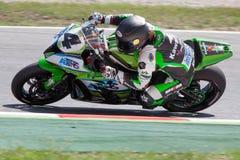 Driver Robertino Pietri Team Kawasaki Fotografie Stock