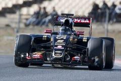 Driver Romain Grosjean Team Lotus F1 Fotografia Stock