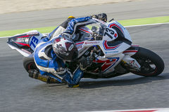 Driver Rui Marto. BMW S1000RR. Stock Photos