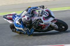 Driver Rui Marto. BMW S1000RR. Mediterranean Motorcycling Championships. Barcelona, Spain - July 19, 2015 Stock Photos