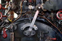 Driver's Cabin. Of an old steam locomotive during its trip from Amstetten to Oppingen near Ulm, South-Germany Royalty Free Stock Images