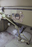 Driver's cabin of an old 4x4 vehicle. Royalty Free Stock Photography
