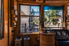 Free Driver`s Cabin On Hakone Tozan Railway Royalty Free Stock Images - 82284309