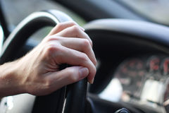 Driver`s hand Royalty Free Stock Photo