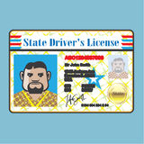 Driver's License Man Royalty Free Stock Photography