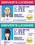 Driver's License Vector file Mans and Girls Royalty Free Stock Photography