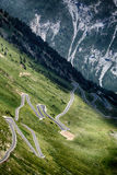Driver's Road - Stelvio Pass Royalty Free Stock Photography