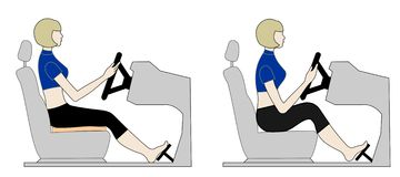 Driver's seat Stock Photo