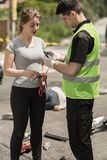Driver's sobriety test Stock Image
