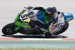 Driver Santiago Barragan Team Stratos FIM CEV Repsol Fotografia Stock Libera da Diritti