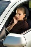 Driver scosso della donna Immagini Stock