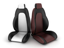Driver seat. Two driver seat (done in 3d Stock Image