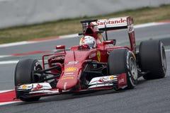 Driver Sebastian Vettel Team Ferrari Fotografia Stock Libera da Diritti