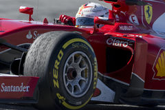 Driver Sebastian Vettel Team Ferrari Immagine Stock Libera da Diritti