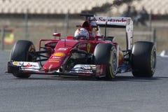Driver Sebastian Vettel. Team Ferrari Stock Photos