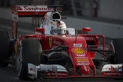 Driver Sebastian Vettel.  Team Ferrari Royalty Free Stock Photography