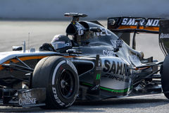 Driver Sergio Perez. Team Sahara Force India Stock Image