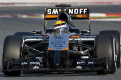 Driver Sergio Perez. Team Sahara Force India F1 Stock Photo
