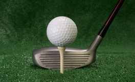 Driver Sitting in Front of Teed Up Golf Ball Royalty Free Stock Image