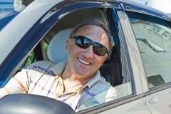 Driver sorridente Fotografie Stock