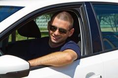 Driver sorridente Fotografie Stock Libere da Diritti
