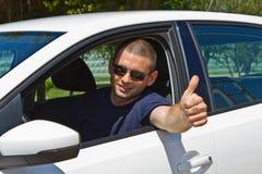 Driver sorridente Fotografia Stock Libera da Diritti
