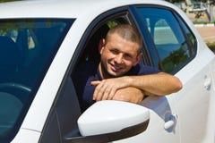 Driver sorridente Immagine Stock Libera da Diritti
