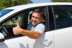Driver sorridente Immagine Stock