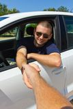 Driver sorridente Immagini Stock Libere da Diritti