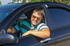Driver sorridente Fotografia Stock