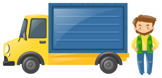 Driver standing by the truck Royalty Free Stock Photography