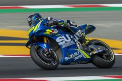 Driver Sylvain Guintoli. Monster Energy Grand Prix of Catalonia MotoGP royalty free stock photo
