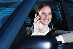 Driver Talking on the Phone Stock Image