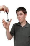 Driver teenager fotografia stock