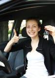 Driver teenager fiero Fotografie Stock