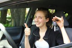 Driver teenager fiero Immagini Stock