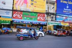 driver in tuk tuk Stock Image