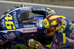 Driver Valentino Rosi. Yamaha Team Royalty Free Stock Photography