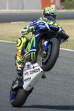 Driver Valentino Rossi. Yamaha Team Royalty Free Stock Photos