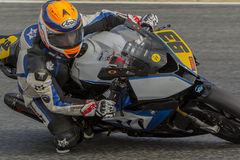 Driver Victor Gallego. BMW S1000RR Royalty Free Stock Images