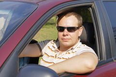 Driver is wearing glasses Royalty Free Stock Photos