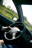 Driver at the Wheel Royalty Free Stock Photography