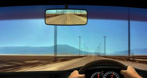 Driver Windscreen Point of View Royalty Free Stock Photo