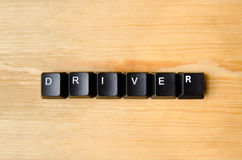 Driver word. With keyboard buttons Royalty Free Stock Images