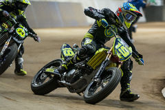Driver Xavier Simeon. Dirt Track Superprestigio Royalty Free Stock Image