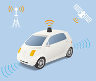 Driverless Car (autonomous vehicle) Image Illustration Stock Photo