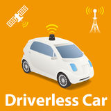 Driverless Car (autonomous vehicle) Image Illustration, Stock Photography
