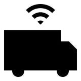 Driverless lastbilsymbol Arkivbilder
